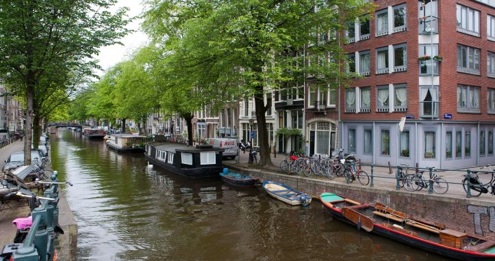 Amsterdam-city-canal-in-Amsterdam-Netherlands