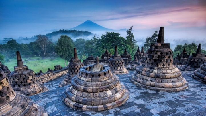 Borobudur-Buddhist-Temple-Indonesia