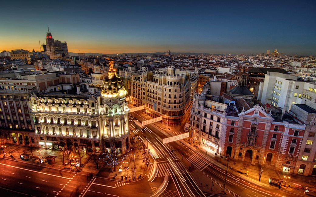 Madrid-City-Night-Spain